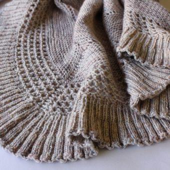 Lourmel, un patron châle tricoté